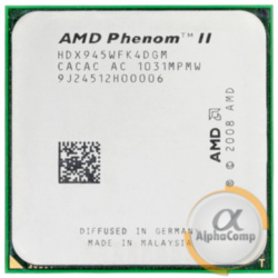 Процессор AMD Phenom II X4 945 B95 (4×3.00GHz/2Mb/AM3) б/у