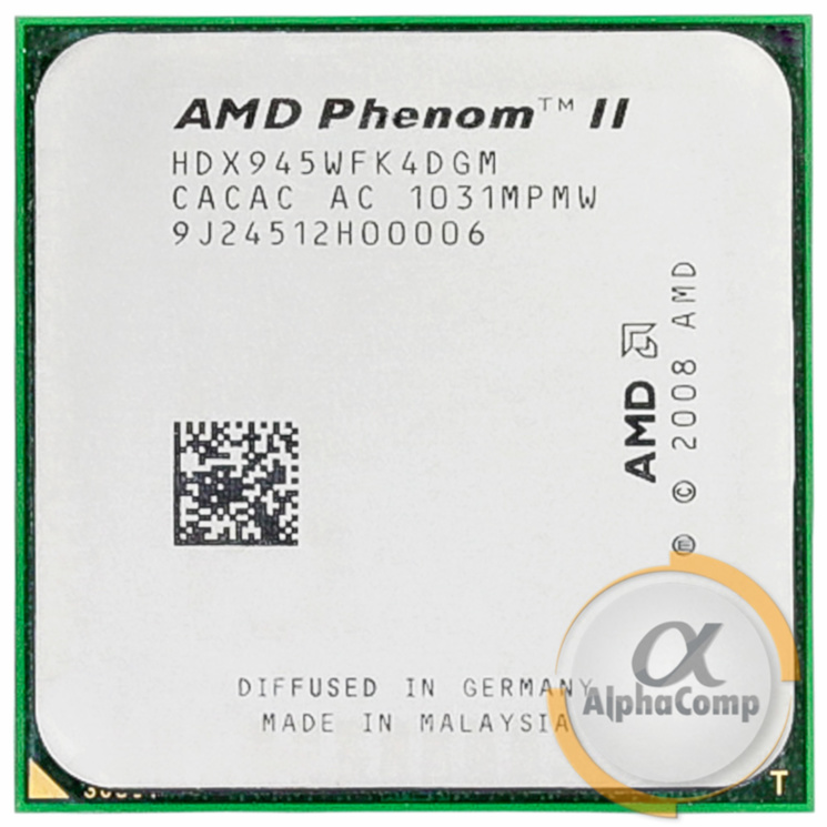 Процессор AMD Phenom II X4 945 B95 (4×3.00GHz/2Mb/AM3) БУ