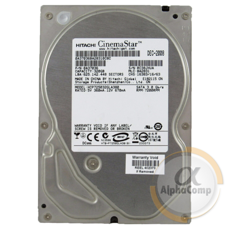 "Жесткий диск 3.5"" 320Gb Hitachi  HCP725032GLA380 (8Mb/7200/SATAII) БУ"