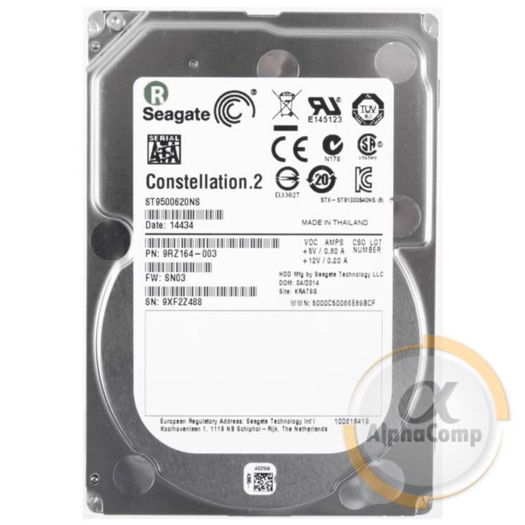 "Жесткий диск 2.5"" 500Gb Seagate Constellation.2 9500620NS (64Mb/7200/SATAIII) server БУ"