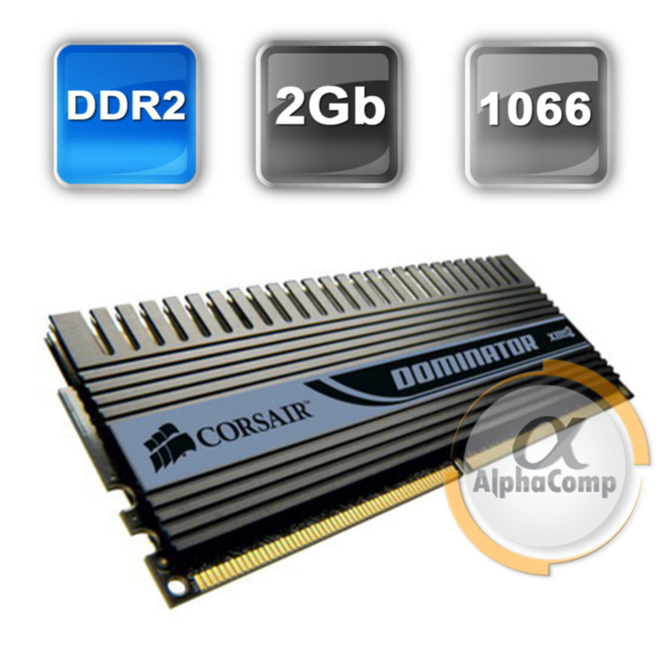 Модуль памяти DDR2 2Gb Corsair (CM2X2048-8500C5D) PC-8500 1066 БУ