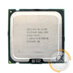 Процессор Intel Celeron Dual Core E1200 (2×1.60GHz/512Kb/s775) б/у
