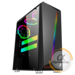 Корпус 1stPlayer Rainbow R3 Color LED Black без БП