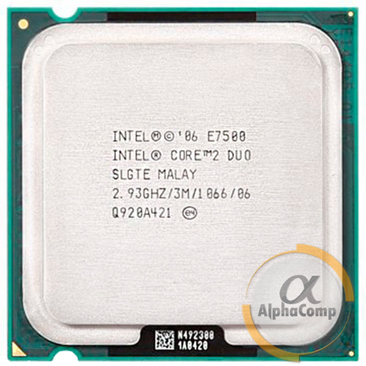 Процессор Intel Core2Duo E7500 (2×2.93GHz/3Mb/s775) БУ