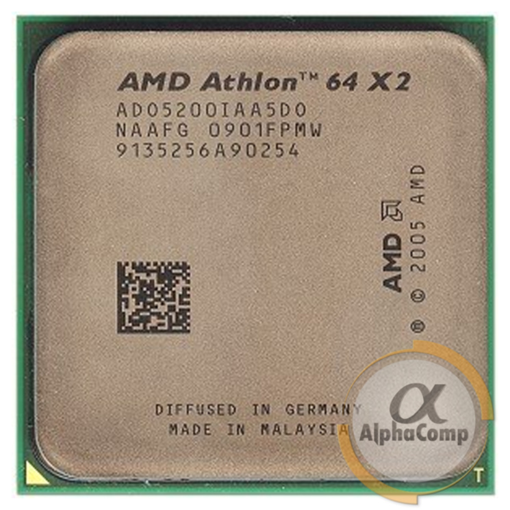 Процессор AMD Athlon 64 X2 5200+ (2×2.70GHz/1Mb/AM2) БУ