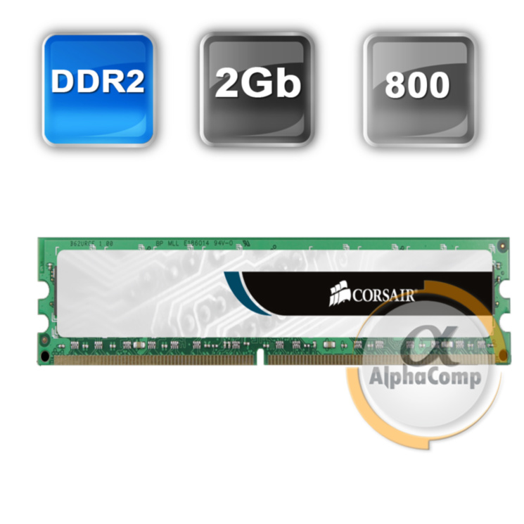 Модуль памяти DDR2 2Gb Corsair (VS2GB800D2) PC-6400 800