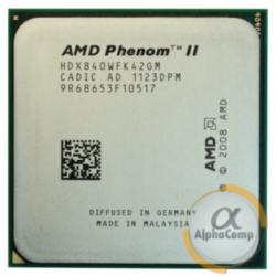 Процессор AMD Phenom II X4 840 (4×3.20GHz/2Mb/AM3) б/у