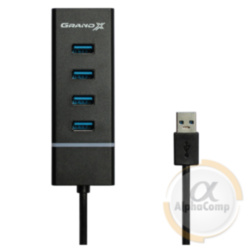 Хаб USB 3.0 Grand-X Travel 4 порта (GH-412)