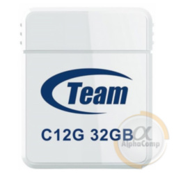 USB Flash 32Gb Team C12G USB2.0 (TC12G32GB01) white