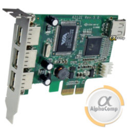 Контроллер PCIe - USB2.0 (EXT: 3×USB2.0, INT: 1×USB2.0) б/у