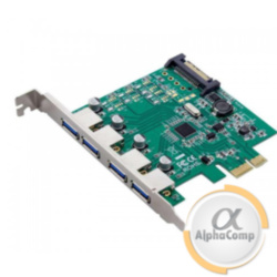 Контроллер PCIe - USB3.0 D720201 (EXT: 2×USB3.0, INT: 2×USB3.0, POWER: sata)
